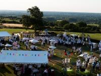 Kermesse du Réseau Entreprendre 2014 : Vue depuis le château - Rochefort sur Loire - © Marie BIEBER - 2014